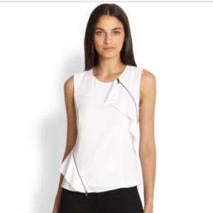 """BCBG """"LESLEE"""" brand new white blouse"""